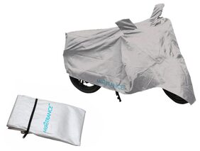 Mototrance Silver Bike Body Cover For Bajaj Discover 110