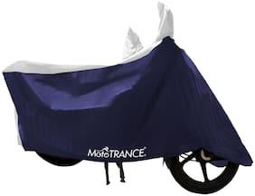 Mototrance Sporty White Blue Bike Body Cover For Bajaj Pulsar AS150