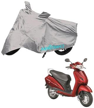 Mototrance Silver Bike Body Cover For Honda Activa