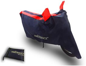 Mototrance Sporty Arc Blue Red Bike Body Cover For Royal Enfield Machismo 500