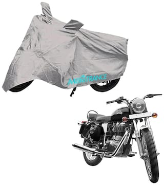 Mototrance Silver Bike Body Cover For Royal Enfield Electra
