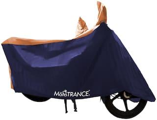 Mototrance Sporty Orange Blue Bike Body Cover For Hero Splendor Plus