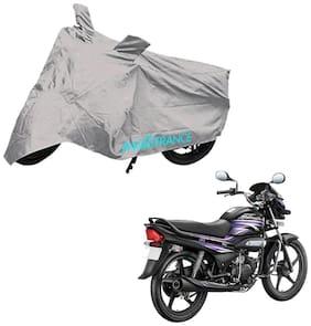 Mototrance Silver Bike Body Cover For Hero Super Splendor