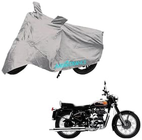 Mototrance Silver Bike Body Cover For Royal Enfield Bullet 350 Twinspark