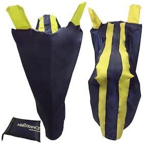 Mototrance Yellow Stripe Bike Body Cover For Mahindra Rodeo UZO