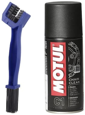 Motul C1 Chain Clean Lube (150 ml) with Bike GrandPitstop Chain Cleaning Brush