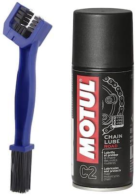 Motul C2 Chain Lube (150 ml) With Bike GrandPitstop Chain Cleaning Brush