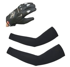 MP Bike Biker Rider Knighthood Riding Gloves and Arm Sleeves -Black