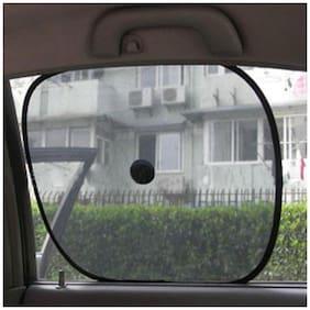 MP Car Side Window Sunshade for -TATA-Nano-Set of 4 pc - Black