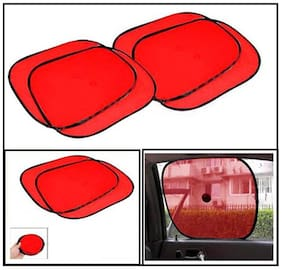 MP Car Side Window Sunshade for -Datsun-GO-Set of 4 PC - Red