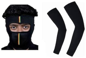 MP MASK FULL FACE CAP FOR BIKE RIDING WITH ARM SLEEVES