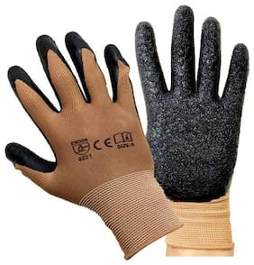 MPI HAND SAFETY Anti-Slip GLOVES PUNCTURE RESISTANT Motorcycle Bike Brown gloves
