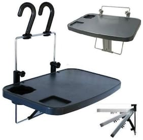 Multipurpose Car Laptop & Food Meal Tray - Black Cup Holder Car Tray Table