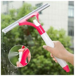 Multipurpose Window Home, Office Car Spray type Cleaning Brush Glass Wiper