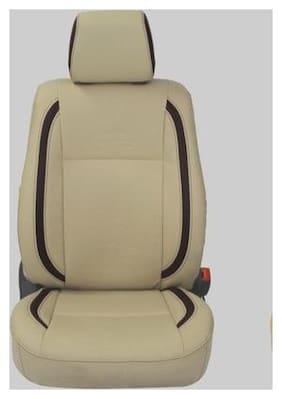 Musicar Leatherite Beige Car Seat Covers for Maruti S Cross
