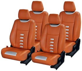 Musicar Tan  Leatherite Car Seat Covers for Maruti New Alto K10