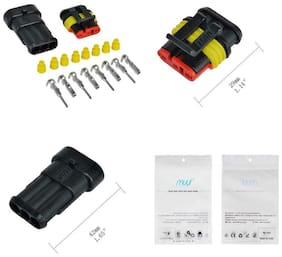 MUYI 10 Kit 3 Pin Way Waterproof Electrical Connector 1.5mm Series 3