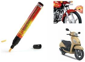 Mxs Bike Auto Smart Coat Paint Scratch Repair Remover Touch Up Pen - Tvs Jupiter