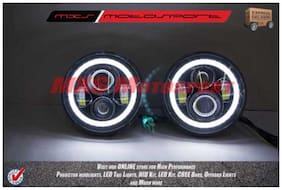 Mxs Tech Hardy Racing Project Bullseye Projector Headlights For Mahindra Thar Jeep