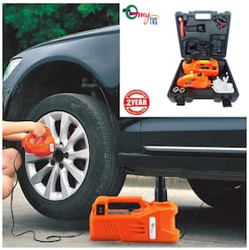 myTVS 3 Ton Electronic Car Jack & Wrench (5 in 1 Kit) Machine with 2 Yr Warranty for All Cars