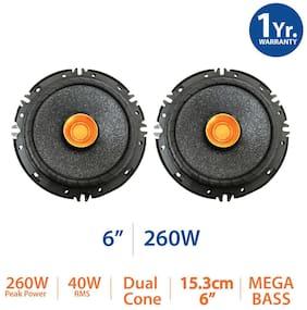 myTVS SDC61 6 Dual Cone Car Speaker with Mega Bass