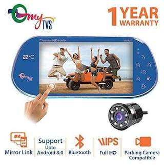 myTVS TRV-67T 7 inch Car Rear View Full HD Touch Parking Screen with Mirror Link & 8 LED Night Vision Camera