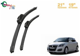 myTVS Wiper blades Set of 2 - 53.34 cm (21 inch) x 48.26 cm (19 inch) - Maruti Suzuki Swift New
