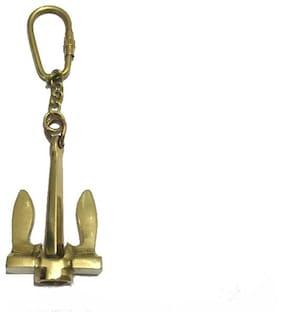 Nautical Brass Anchor Keychain