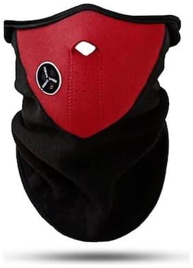 Neck Warmer With Filter 1 Neoprene Mask Red Mask
