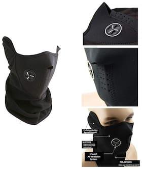 Neo-prene Face Mask for Bike Riding (Black, X-Large Size)