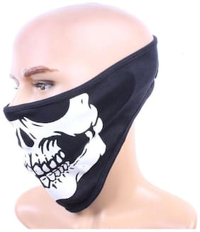 Aashirwad Craft Neoprene Unisex Skull Face Mask (Black)