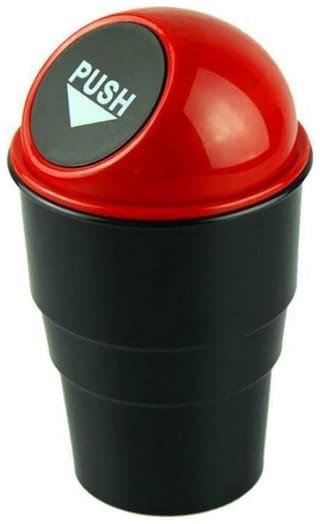 New Car Home Office Mini Trash Garbage Dust Rubbish Bin Car Accessory Plastic Dustbin  (Assorted Color)