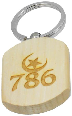 New Design 786 Engraved Handcrafted Wooden Key Chain