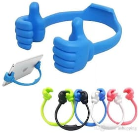 New Flexible Portable Mount Cradle Cartoonish Thumb Ok Stand Mobile Holder (Pack of 1) Assorted