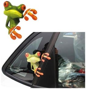 New Funny Car Stickers Design 3D Cartoon Peep Frosch Peep Frosch Cool Car Stickers And Window Graphics Sticker