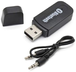 Newnovo 3.5mm Bluetooth Stereo Adapter Audio Receiver with Dongle Transmitter USB Mp3 Speaker for Vivo V11 & Poco F1 Mobile