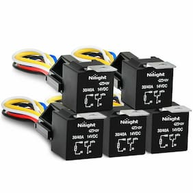 Nilight 50003R Automotive Set 5-Pin 30/40A 12V SPDT with Interlocking Relay S...
