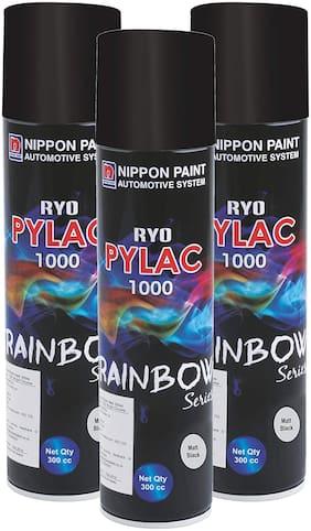 Nippon Paint Ryo Pylac 1000 RS Matt Black 300ml (Pack of 3)