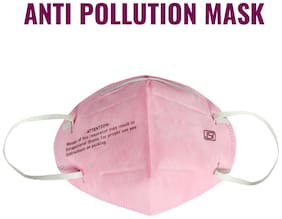 Noymi Anti-Pollution Mask With Activated Carbon For Men And Women Mask (Pink),(Pack of 1)