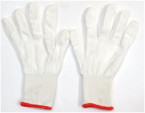 Nylon Cloth Lint Free hand Gloves (Pack OF 25)