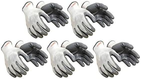 """Nylon Hand Safety Anti-Slip Multipurpose Gloves (Punture Resistance, Bike Riding Gloves) (5 Pair) """