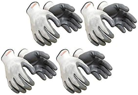"""Nylon Hand Safety Anti-Slip Multipurpose Gloves (Punture Resistance, Bike Riding Gloves) (4 Pair) """