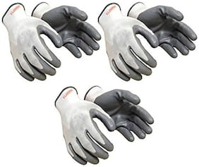 Nylon safety hand gloves (Pair of 3)