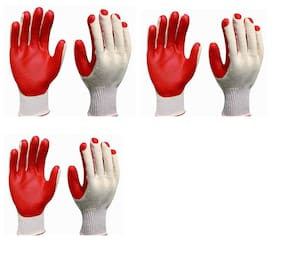 Nylon safety hand gloves (Pair of 3)