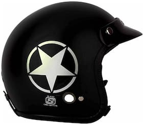 O2 Black Star Open Face ISI Certified Helmet AA95 Series L Size