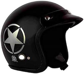 O2 Black Star Open Face ISI Certified Helmet AA68 Series