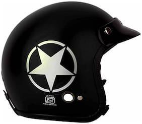 O2 Black Star Open Face ISI Certified Helmet AA77 Series