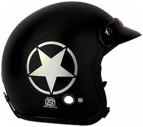 O2 Black Star Open Face ISI Certified Helmet AA59 Series