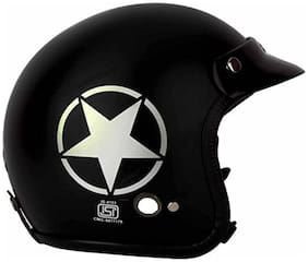 O2 Black Star Open Face ISI Certified Helmet AA99 Series