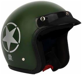 O2 green Star open Face ISI Certified Helmnet AA1 Series